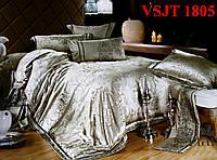 Постельное белье семейное, сатин жаккард Tiare Вилюта. VSJT 1805