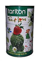 Чай зеленый с ароматом саусепа и клубники Tarlton Копилка Любовь 100 г в металлической банке
