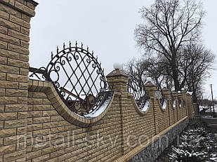 Декоративные кованые заборные вставки