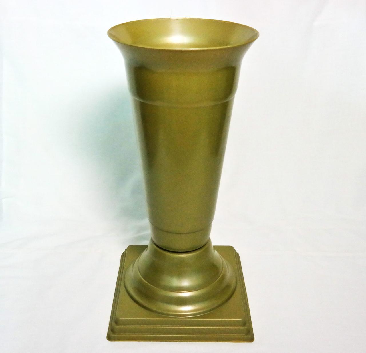 Флакон на ножке Золото диаметр 18 см 2,2 литра для цветов