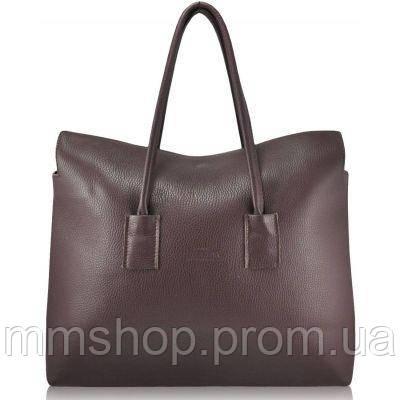 Сумка женская кожаная POOLPARTY Leather Sense Tote темно-фиолетовая, фото 1