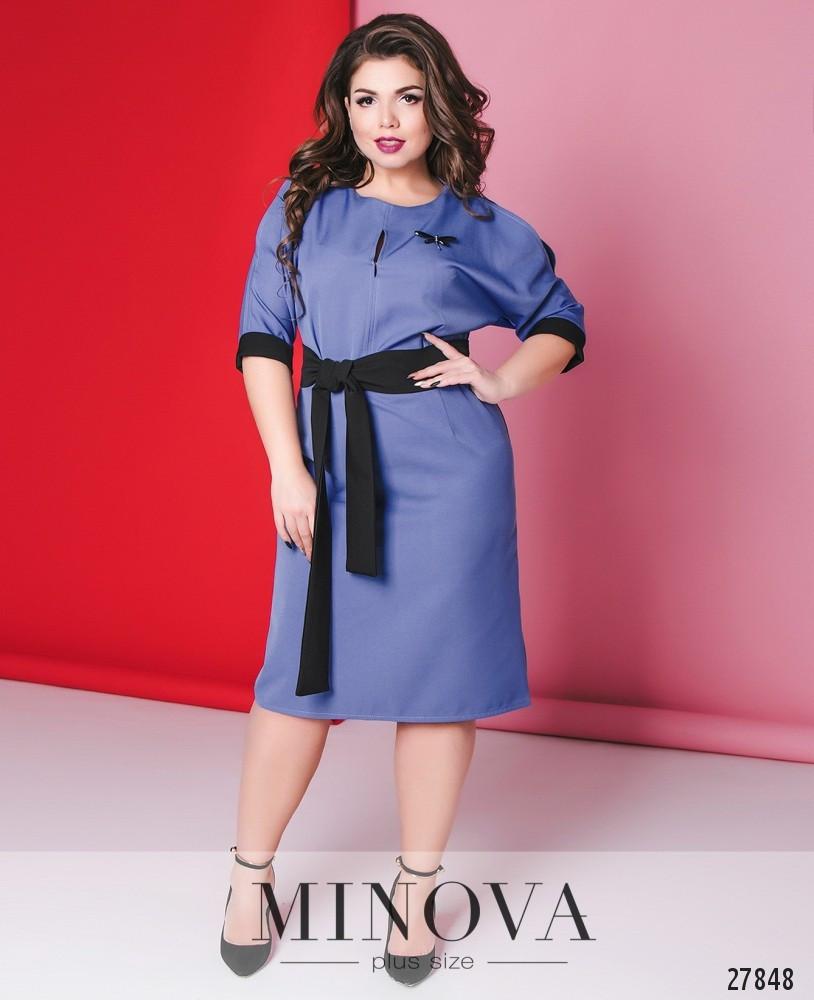 b99eaa4bff2 Женское приталенное платье цвета джинс большого размера 56 - Одежда больших  размеров PlusSize+ в Харькове
