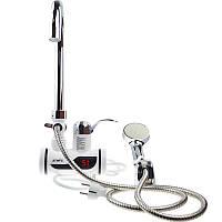 Мгновенный проточный водонагреватель с душем и дисплеем (Нижнее подключение), фото 1