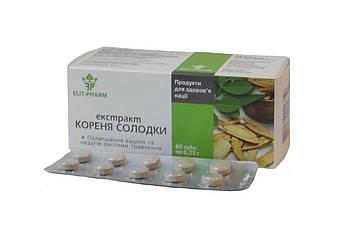 Корень солодки, экстракт 40 таб. (Элит-Фарм)  - при бронхите, пневмонии, язве желудка и двенадцатиперстной киш