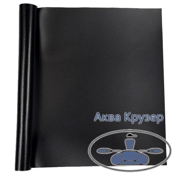 Лодочная ткань ПВХ, кусок размер: 15 см х 20 см, цвет черный - для ремонта надувных лодок ПВХ