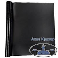 Човнова тканина ПВХ, шматок розмір: 15 см х 20 см, колір чорний - для ремонту надувних човнів ПВХ