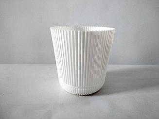 Цветочный Горшок Гелиос Белый 15 см 1,75 литра