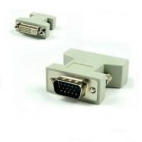 Переходник DVI мама F female - VGA папа d-sub male M  Переходник, конвертер интерфейса DVI 24+5 мама VGA 15 pi