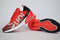 NIKE Air Max 270 червоні кросівки люкс репліка з живими фотографіями, фото 1