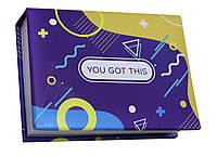 Блокнот MiniNotes зі стікерами Post-it і кольоровими закладками, у твердій обкладинці «You got this», фото 1