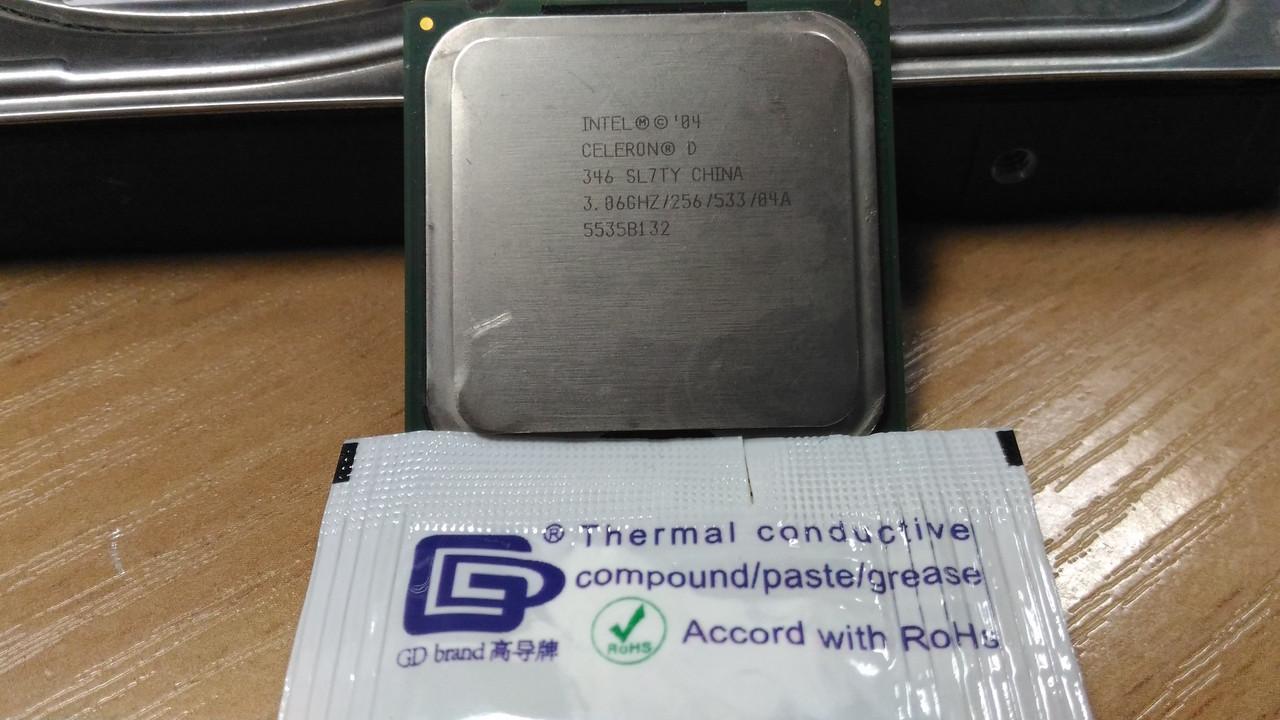 Процессор Intel Celeron D346 /1(1)/ 3.06GHz + термопаста 0,5г