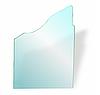 Полку в холодильник НСК з фігурними вирізами прозора 5 мм