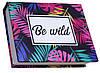 Блокнот MiniNotes зі стікерами Post-it і кольоровими закладками, в твердій обкладинці «Be wild»