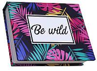 Блокнот MiniNotes зі стікерами Post-it і кольоровими закладками, в твердій обкладинці «Be wild», фото 1
