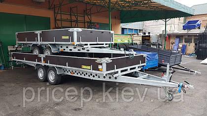Прицеп с бортовой платформой. Перевозка длинномеров, пасеки, негабаритных грузов.
