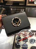 Сумка-клатч копия Фенди Fendi качественная эко-кожа дорогой Китай черная