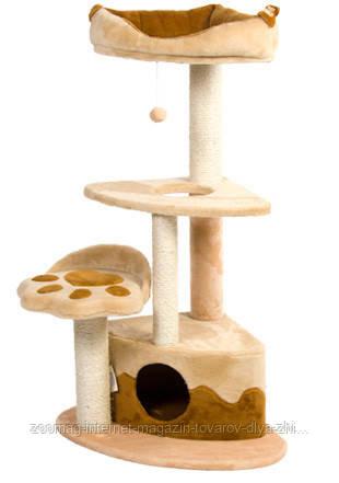 """Дряпка  для стачивания когтей для кошек """"Городок Угловой""""  120см. """"Природа""""™"""