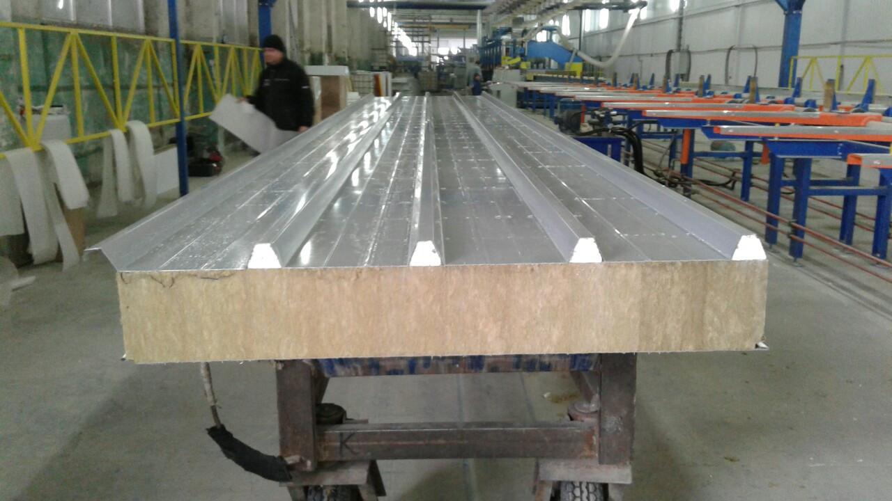 Сендвіч панелі дахові 100 мм МВ