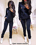 Жіночий модний теплий костюм на флісі: батник і штани (4 кольори), фото 3
