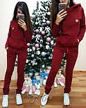Женский модный теплый костюм на флисе: батник и штаны (4 цвета), фото 5