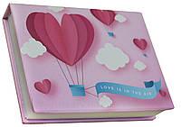 Блокнот MiniNotes со стикерами Post-it и цветными закладками, в твердой обложке «Air», фото 1