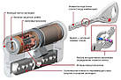 Цилиндр Abloy Protec 2 HARD 108 (37х71) S-L закаленный ключ-тумблер, фото 2