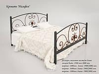 Кровать металлическая Нимфея TM Tenero белый, бежевый, коричневый, черный бархат, черный(глянец), 180*190