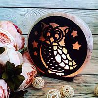 Соляна лампа Сова 3-4 кг