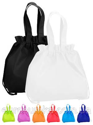 Сумка мешок рюкзак из спанбонда с логотипом