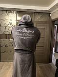 Махровий халат з іменною вишивкою, фото 3