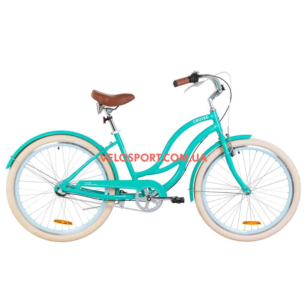 Городской велосипед Dorozhnik Cruise 26 дюймов бирюзовый