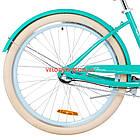 Городской велосипед Dorozhnik Cruise 26 дюймов бирюзовый, фото 6