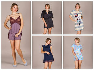 Домашняя одежда (пижамы, пеньюры, туники, комплекты для дома)