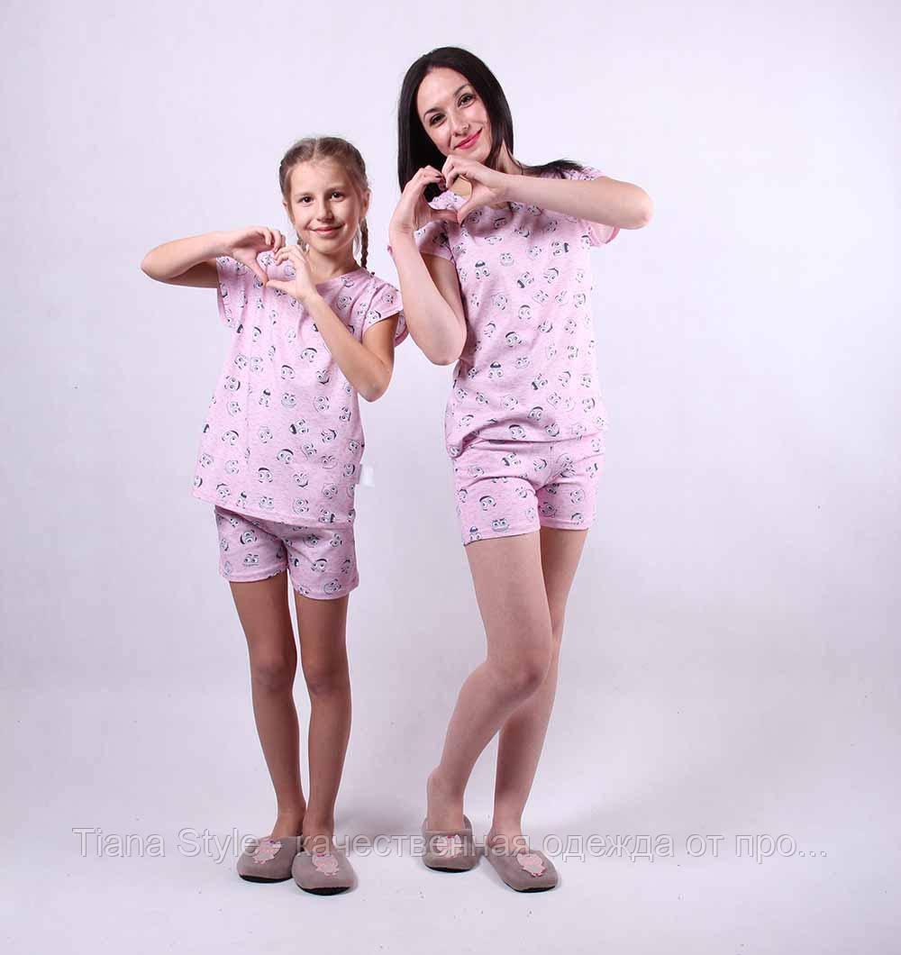 """Комплект летних пижам """"Family look"""" 36-54"""