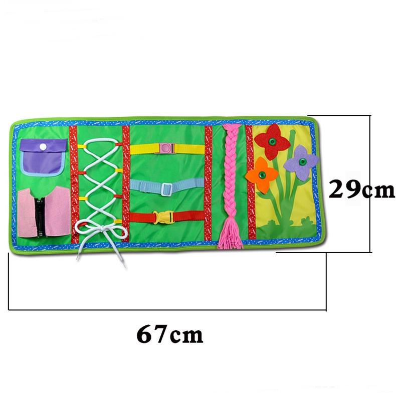 Текстильная раскладка бизиборд.