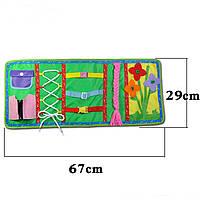 Текстильная раскладка бизиборд., фото 1