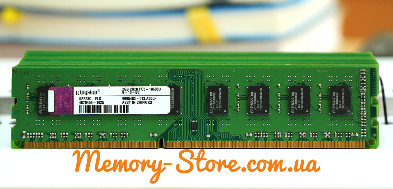 Оперативная память для ПК Kingston DDR3 2Gb PC3-10600 1333MHz Intel и AMD, б/у
