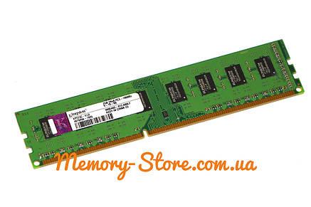 Оперативная память для ПК Kingston DDR3 2Gb PC3-10600 1333MHz Intel и AMD, б/у, фото 2