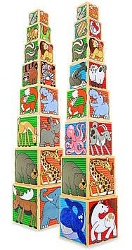 """Набор деревянных блоков-кубов Melissa & Doug """"Животные"""""""