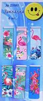 Закладка-магнит для книг Фламинго (6 шт в наборе)