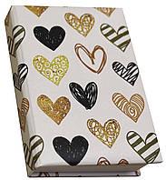 Блокнот MiniNotes зі стікерами Post-it і кольоровими закладками, в твердій обкладинці «Heart»