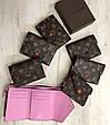 Міні гаманець репліка Louis Vuitton Monogram на кнопці   lv монограм   Луї Вітон арт.0823 Кавовий, фото 8