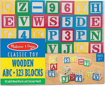 Деревянная азбука/цифры на кубиках Melissa & Doug