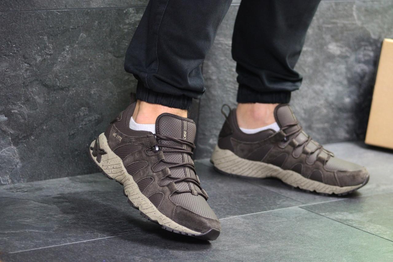 Мужские кроссовки эко замша нубук