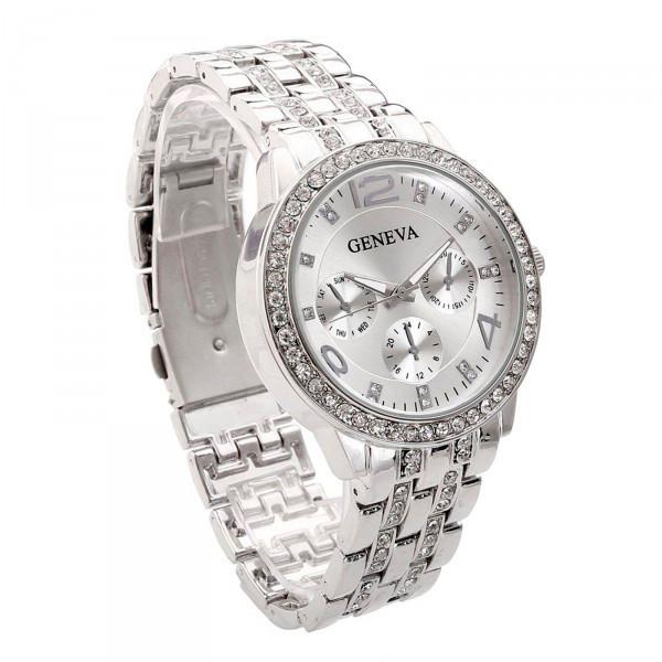 21619cfdc6ba Женские часы Geneva 1320 Silver: продажа, цена в Киеве. часы ...