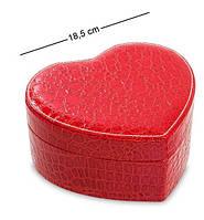 Шкатулка для украшений Влюбленное сердце JL-16 красная