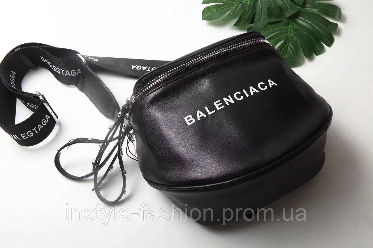 Сумка-клатч копия Balenciaga Баленсиага качественная эко-кожа цвет черный