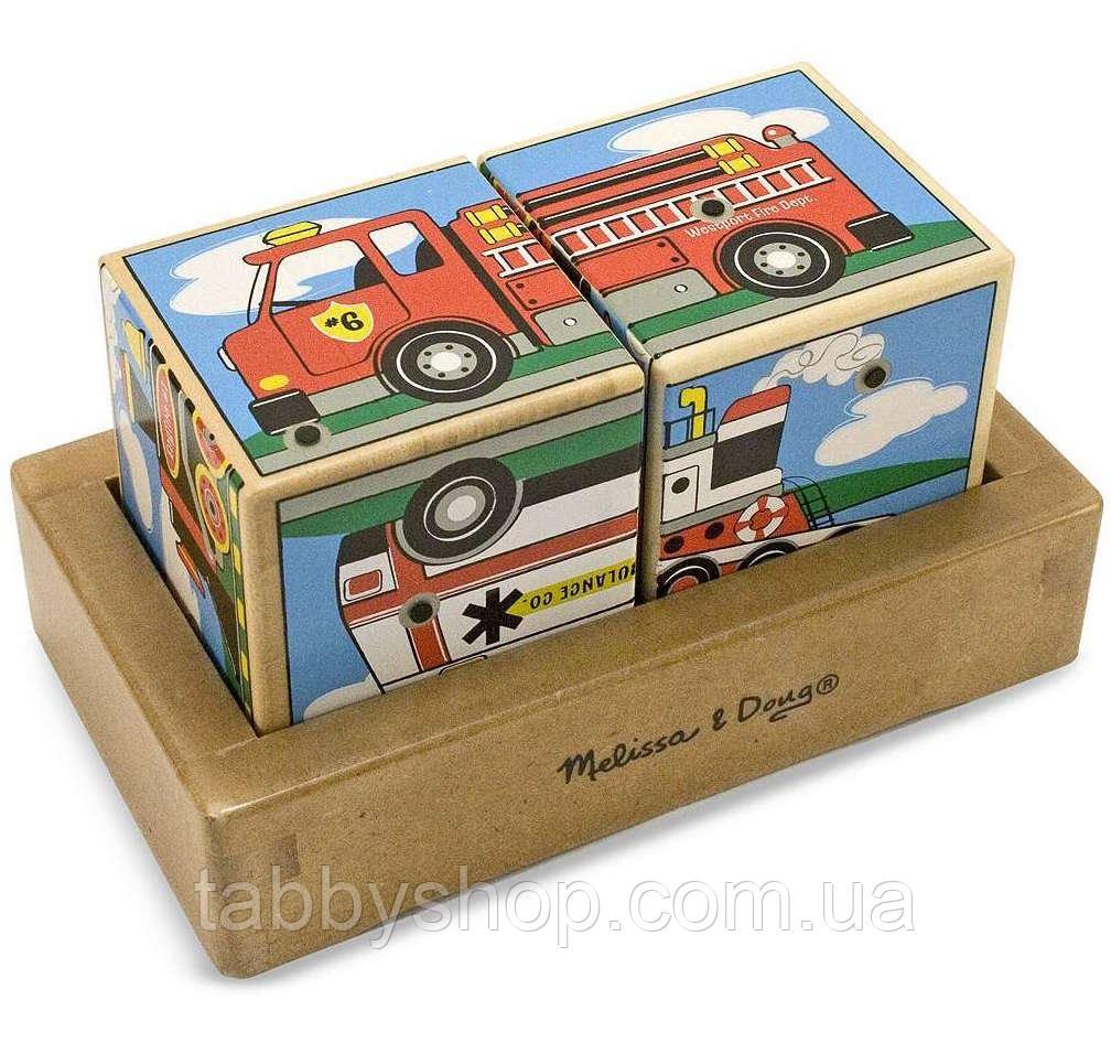 "Звуковые кубики Melissa & Doug ""Машинки"""