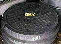 Люк полимерпесчаный черный  нагрузка до 4,5т с запорным устройством, фото 2