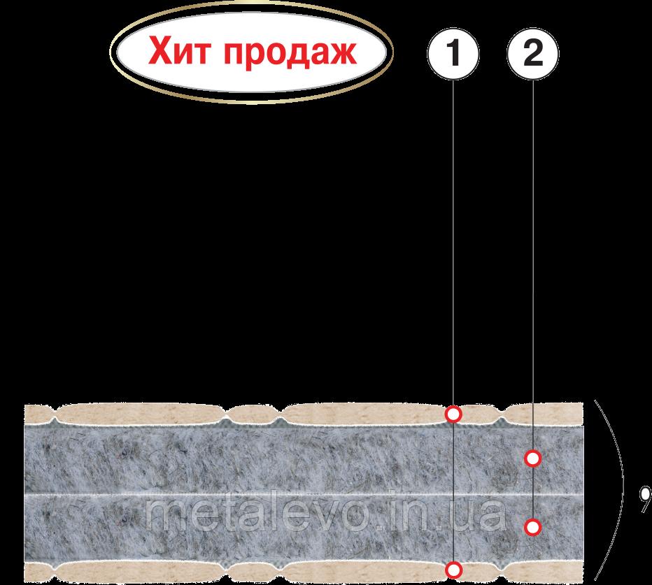 Подростковый ортопедический матрас ФАВОРИТ-БИО П   ТМ ВЕЛАМ (Украина), 70х190